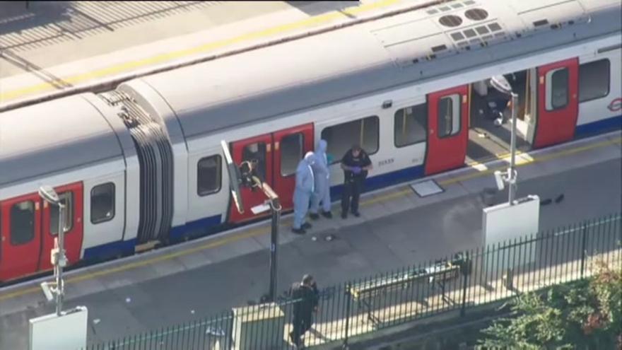 22 heridos en Londres en el atentado del metro