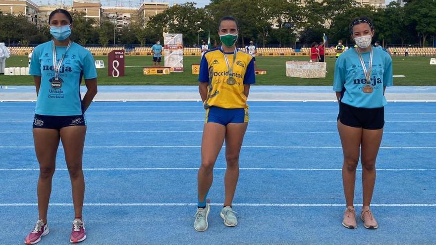El Club Nerja de Atletismo domina el andaluz sub-23 con 31 medallas