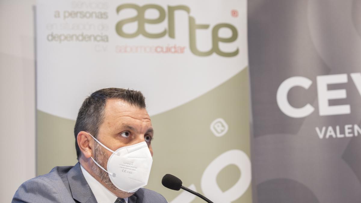 El presidente de Aerte, José María Toro, durante un evento.