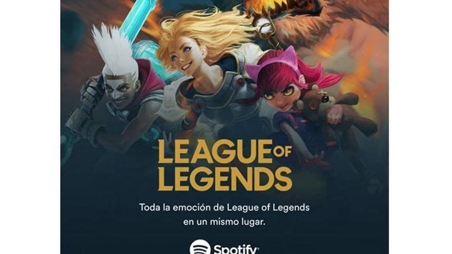 Spotify ofrecerá podcasts y contenidos musicales de League of Legends