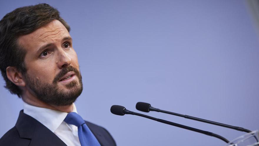 """Casado pide al Gobierno """"humildad """" y """"menos triunfalismo"""" por los datos del paro"""