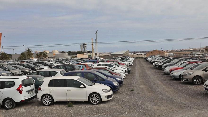 Ecologistas advierten del daño de los «rent a car» del aeropuerto de Alicante-Elche en los humedales y piden reubicarlos