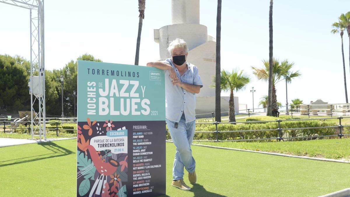 El concejal de Cultura del Ayuntamiento de Torremolinos, David Tejeiro, durante la presentación del primer Festival de Jazz y Blues.