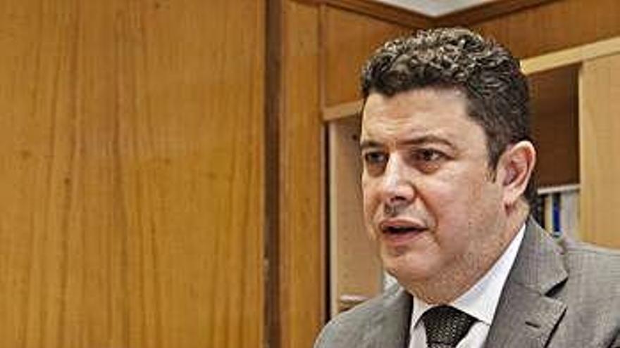 Manuel García Sanz, en su despacho.
