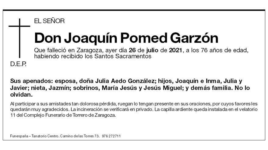 Joaquín Pomed Garzón