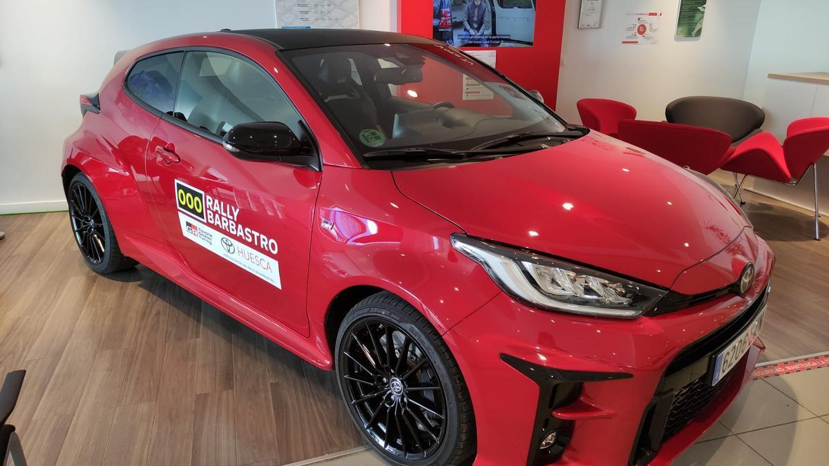 El coche oficial del rally Barbastro 2021.