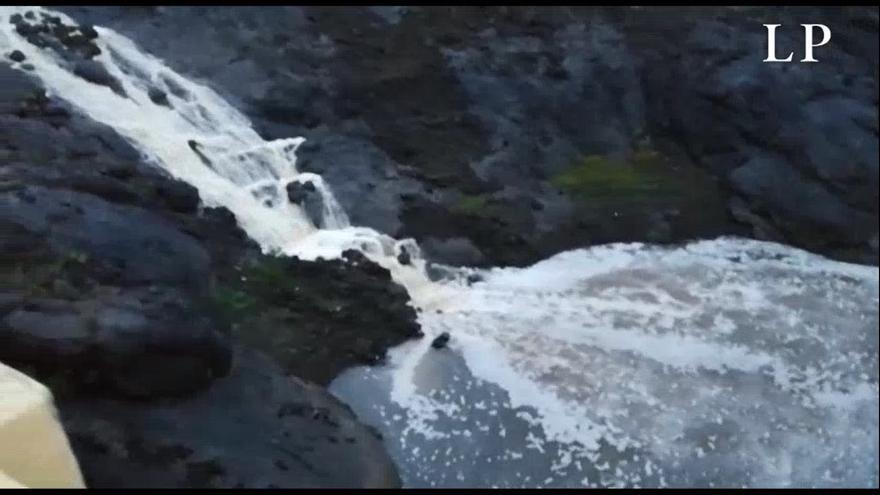 El agua entra a la presa de Las Niñas gracias a las últimas lluvias