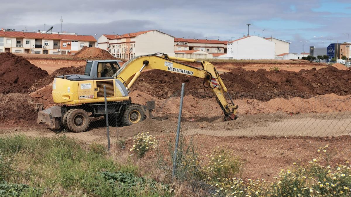 Obras en el residencial San Roque