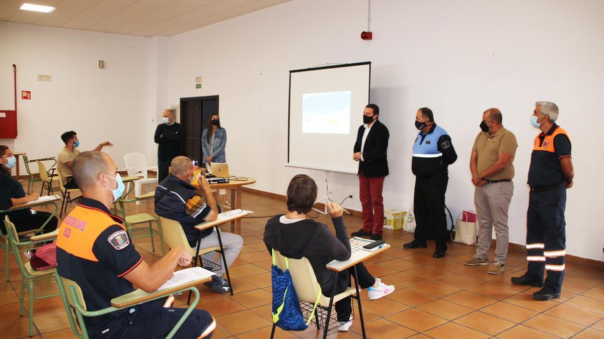 Un momento de la formación en Yaiza.