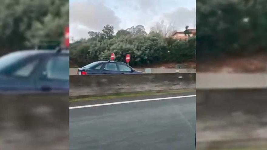 Esquivando a un coche en sentido contrario por la avenida de Madrid: así fue el temerario trayecto
