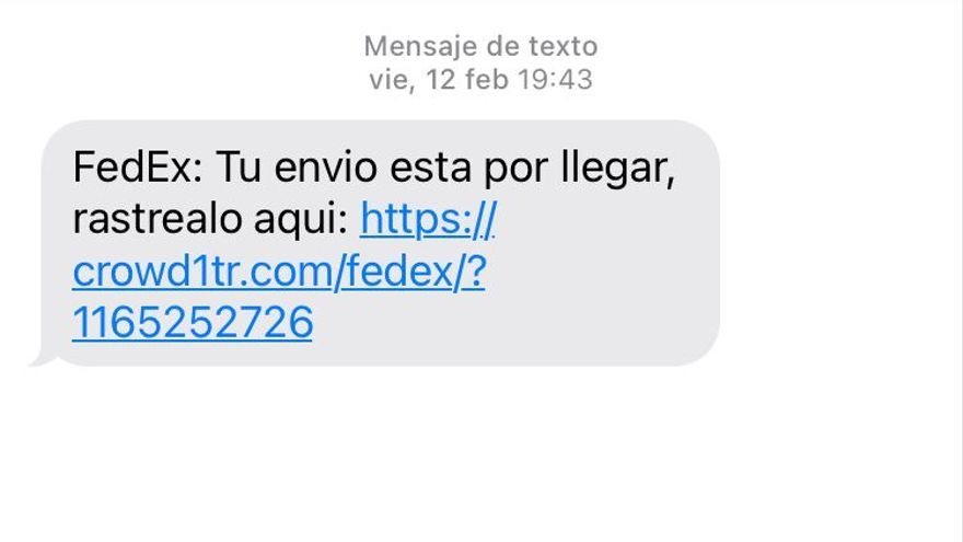 Nueva estafa por móvil: un SMS que alerta de un envío de paquetería