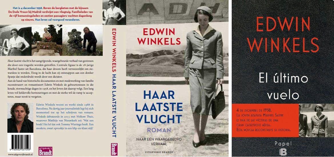 """Portada holandesa y española del libro """"El último vuelo"""" (Editorial B)."""