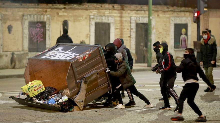 La policía investiga material audiovisual para identificar a más implicados en los altercados de Burgos