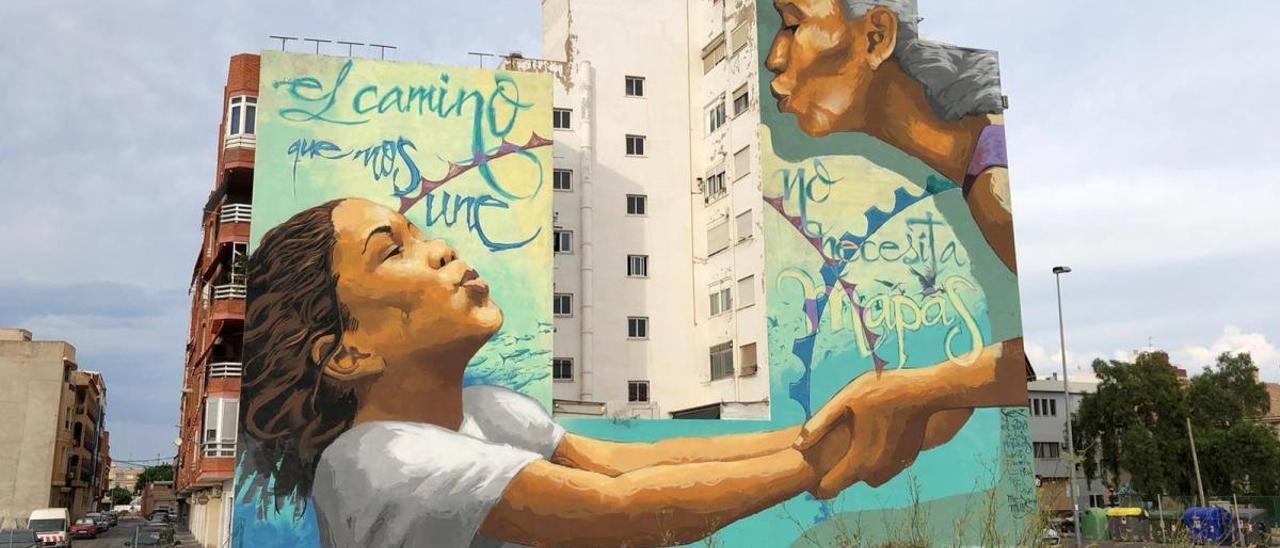 Arte urbano a lo grande en Sagunt