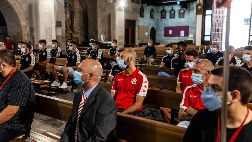 Así ha sido el tributo del CF Zamora a la Virgen de la Concha