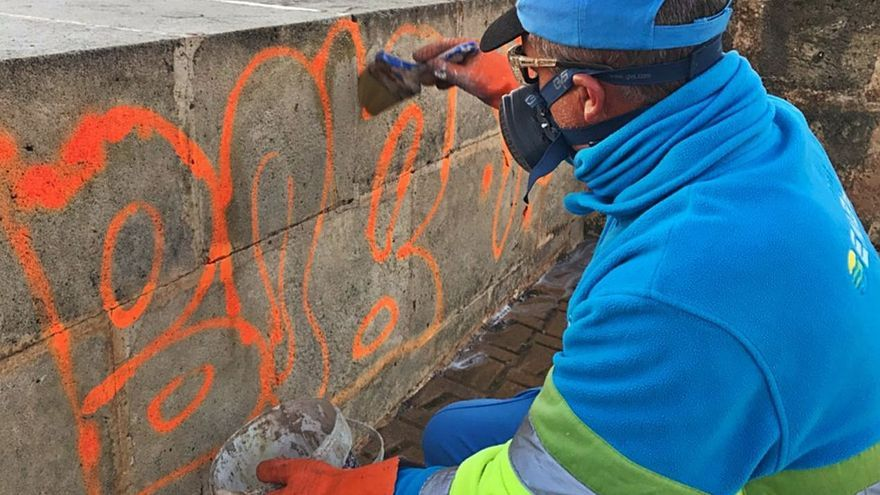 Graffiti-Säuberung zum Aktionspreis in Palma de Mallorca
