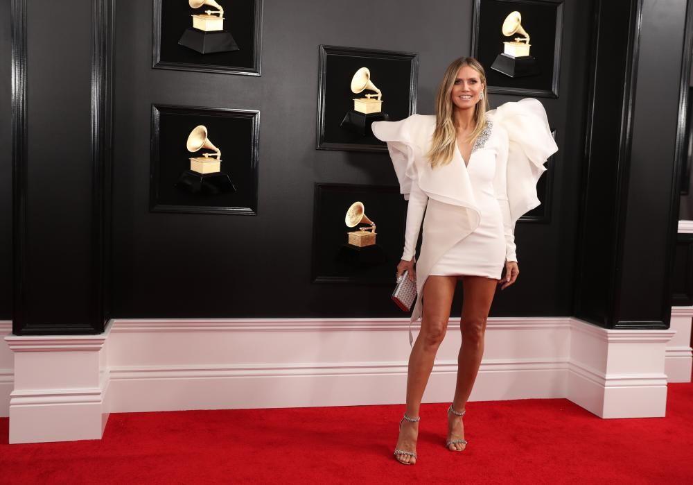 Heidi Klum, en los Grammy.