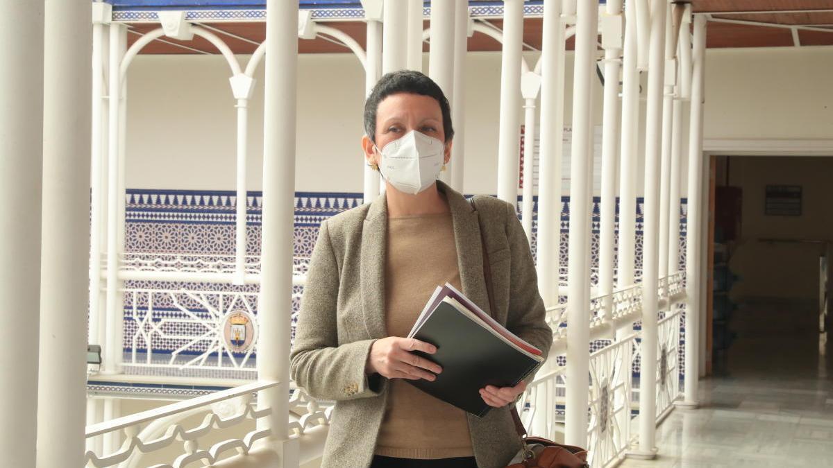 María Marín, portavoz del partido en la Asamblea.