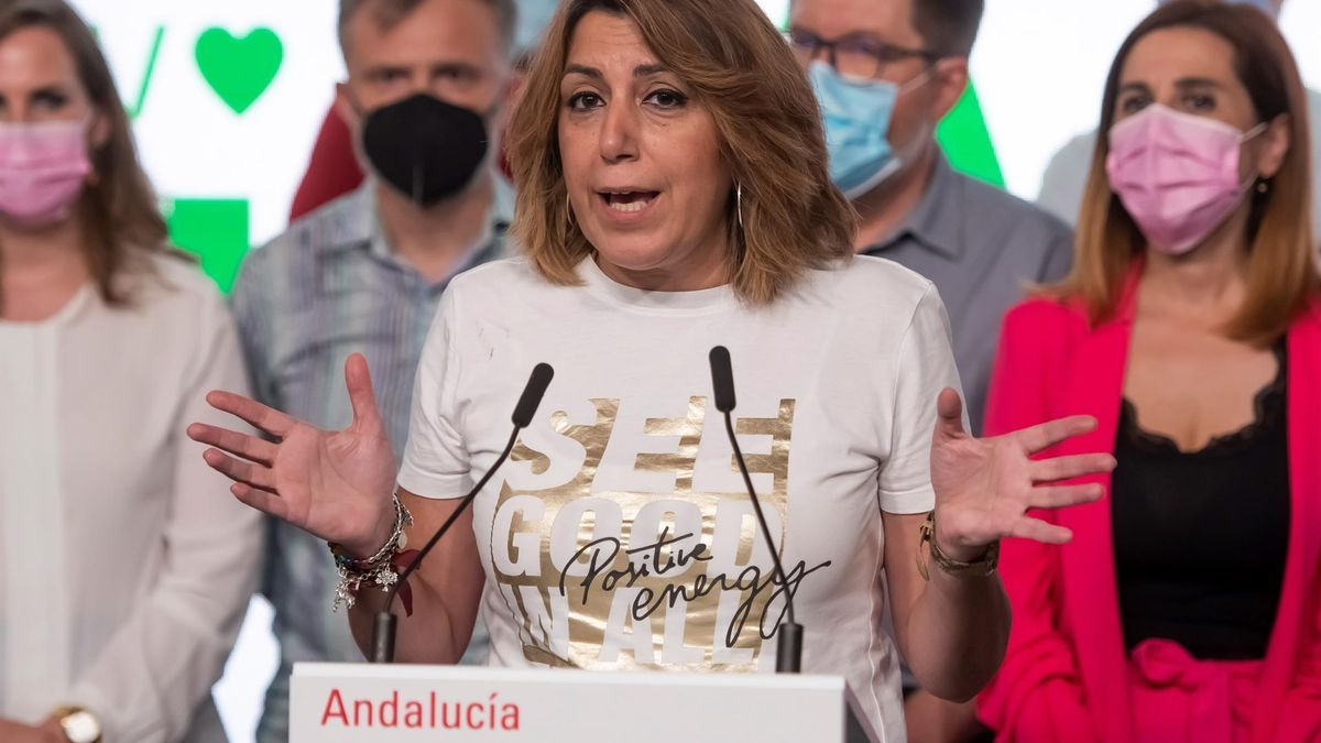 Susana Díaz, en rueda de prensa tras conocer su derrota.