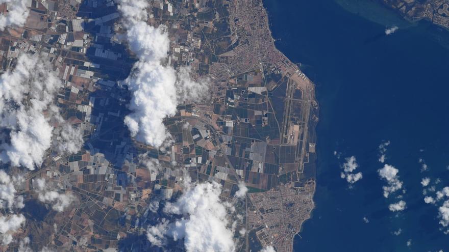 Así se ve el Mar Menor desde el espacio