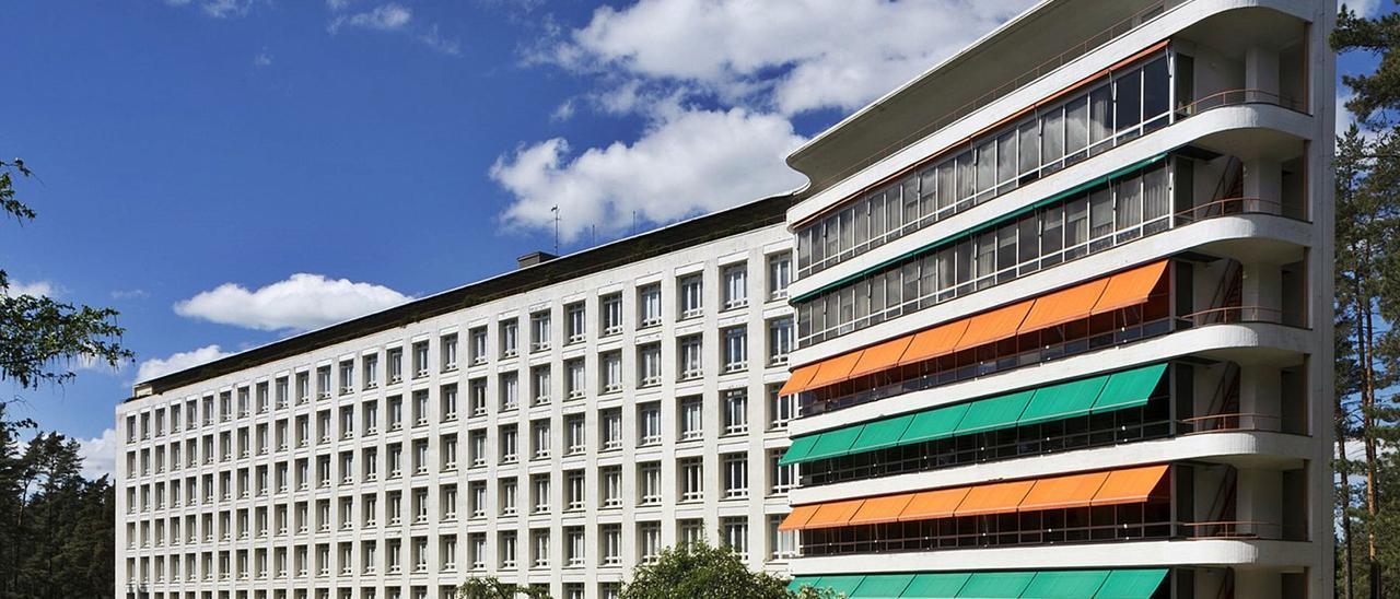 El edificio del sanatorio de Paimio, obra de Alvar Aalto. | |  M. HOLMA
