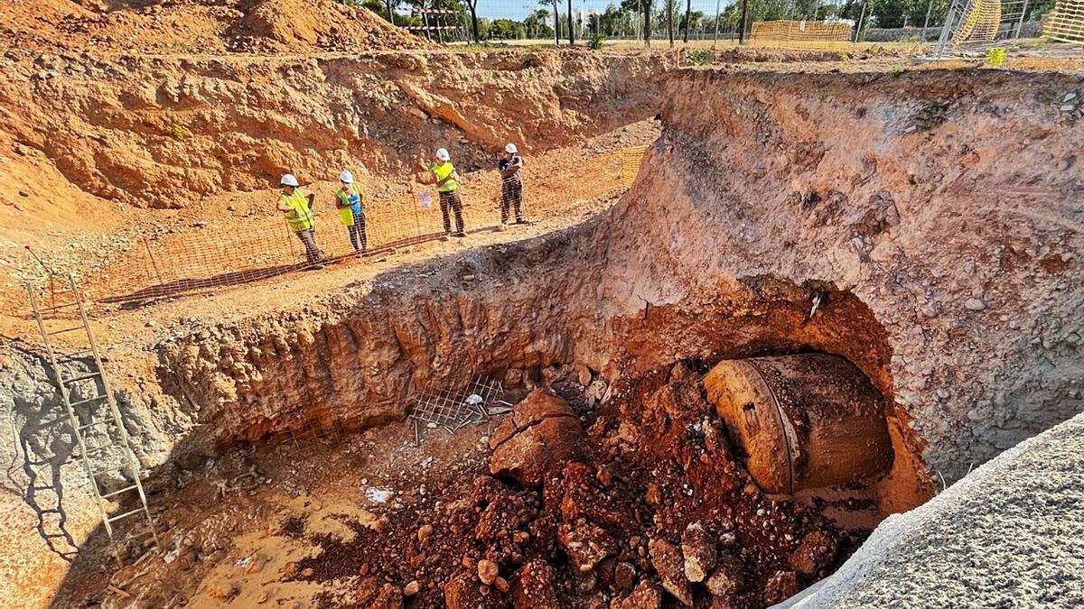 La excavación de este tramo ha finalizado en el plazo de cuatro meses previsto. | AYUNTAMIENTO DE  PALMA