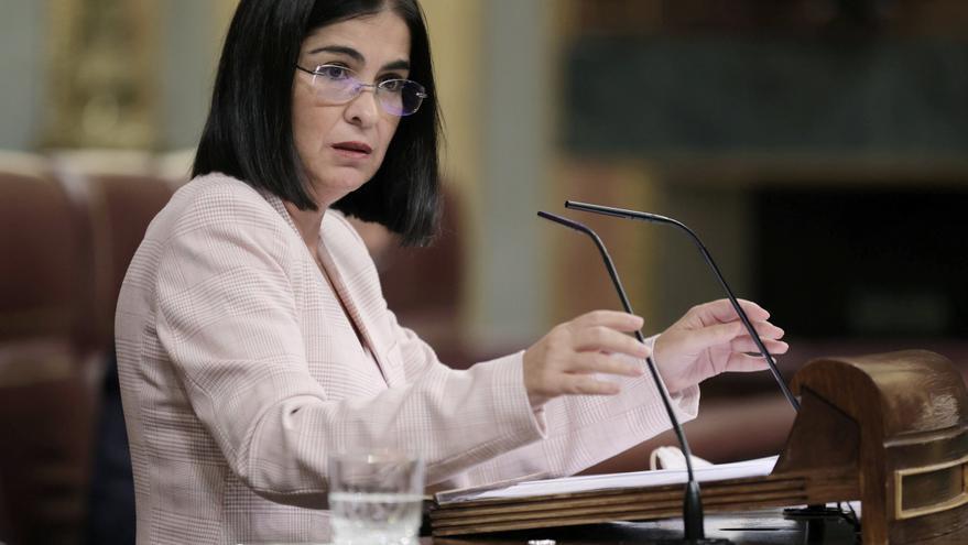 La ministra Carolina Darias visita La Palma y a los desplazados por el volcán