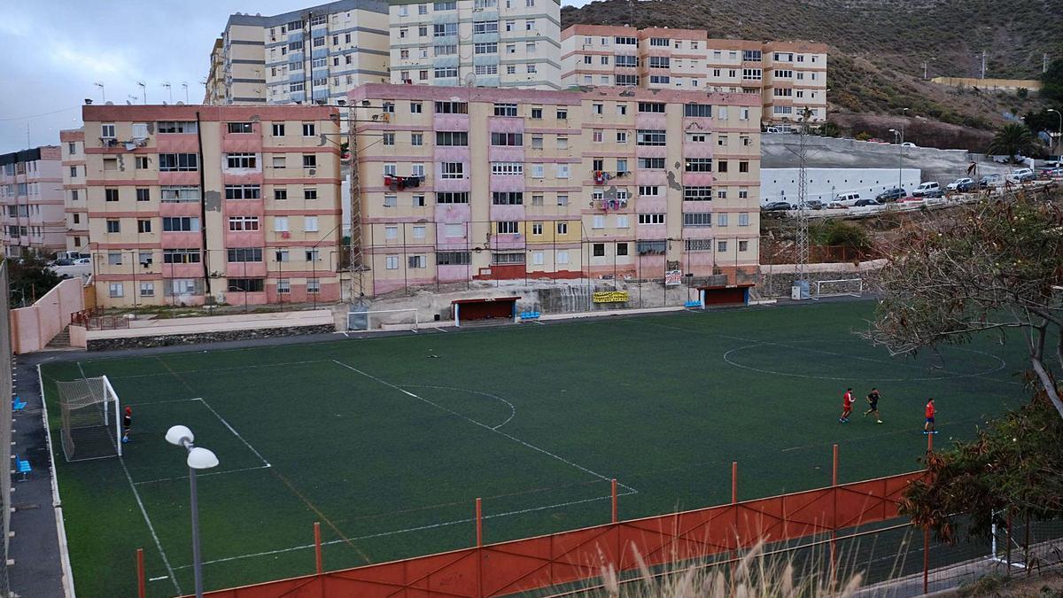 Imagen de archivo del campo del fútbol de Pedro Hidalgo, en Las Palmas de Gran Canaria. | | JOSE CARLOS GUERRA