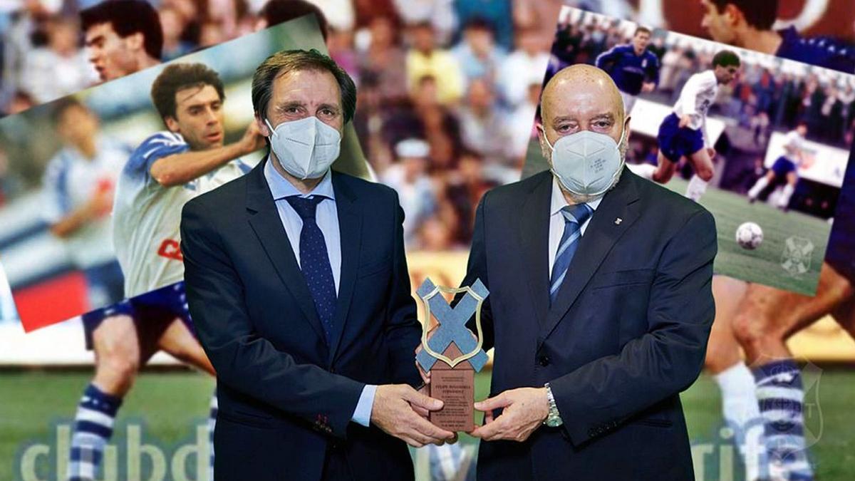 Felipe posa con el premio Leyenda que le entregó Concepción ayer.