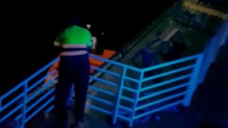 Así fue el rescate de Baleària al superviviente del accidente marítimo de Ibiza