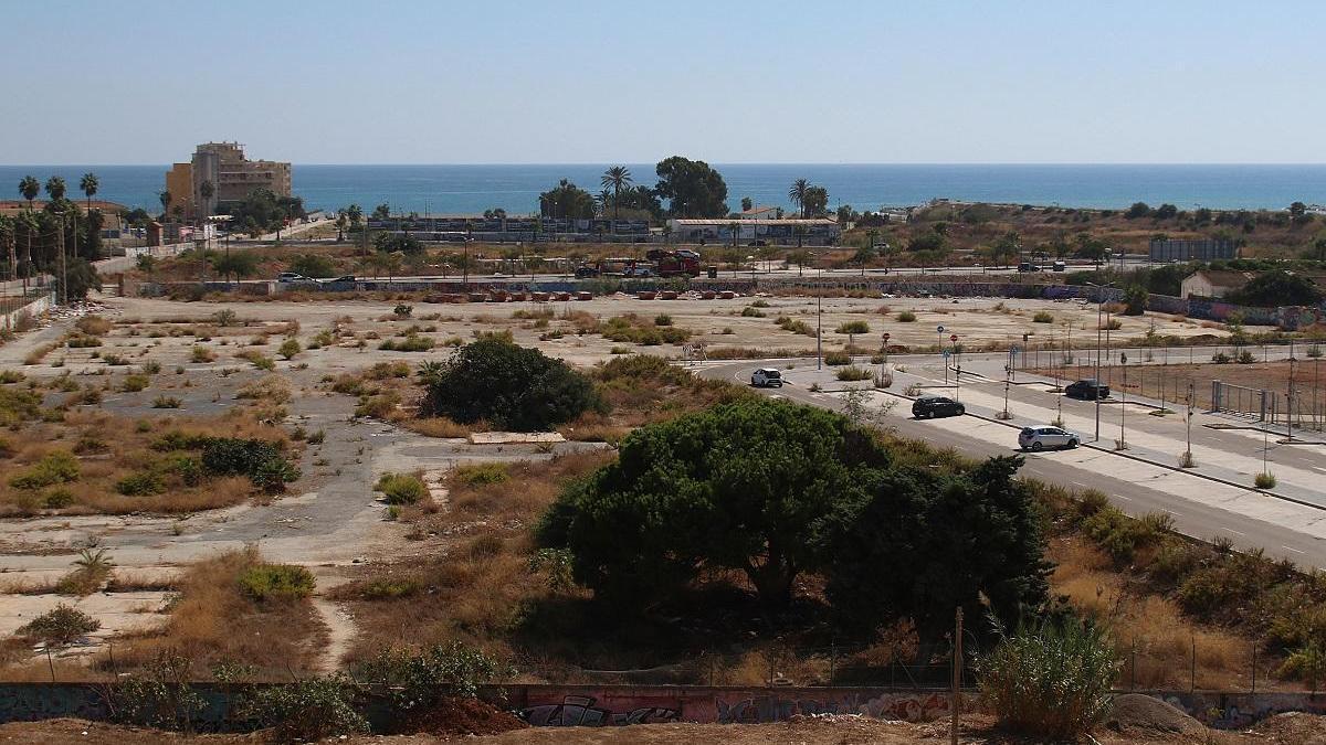 Imagen de los terrenos de La Térmica en los que se quiere implantar la UCAM.