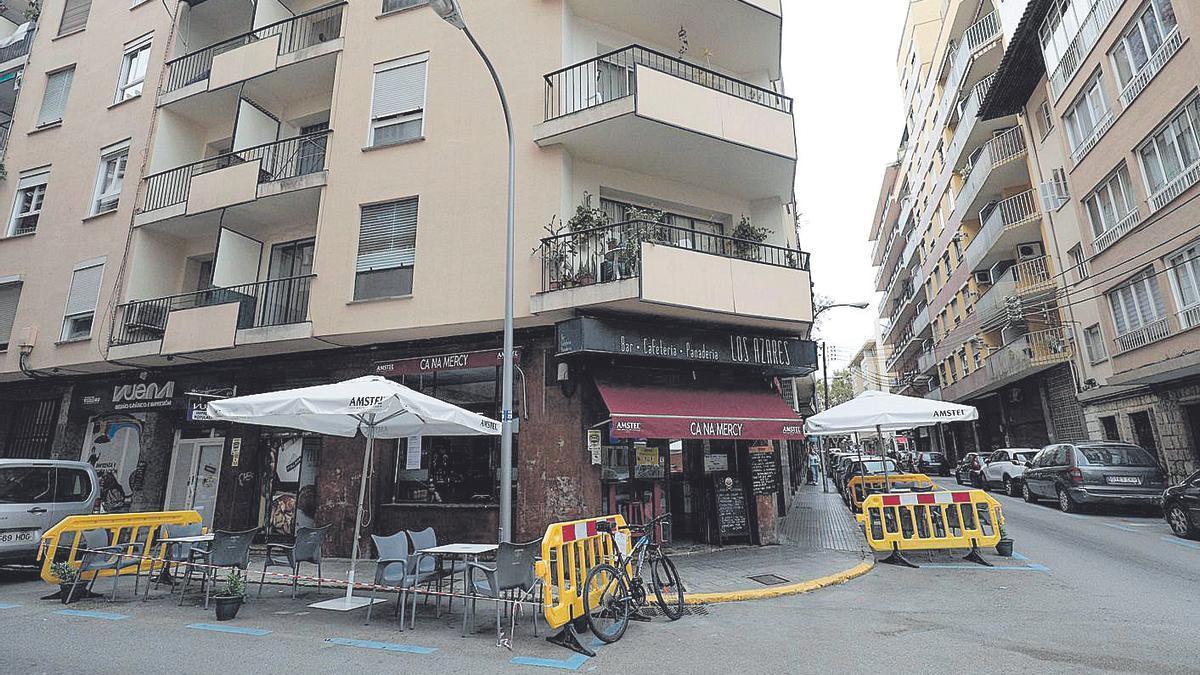 Lugar donde ocurrieron los  hechos, en la calle Andreu Feliu de Palma.