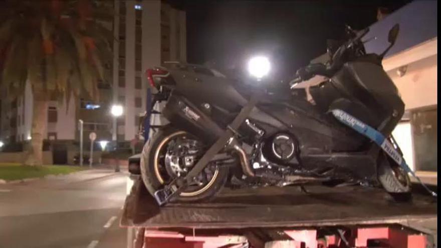 Así fue la detención de El Melillero cuando circulaba con una moto en Mijas
