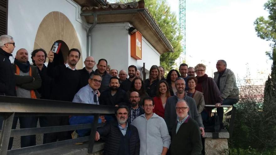 Los trabajadores de TVE-Baleares se despiden de su histórica sede