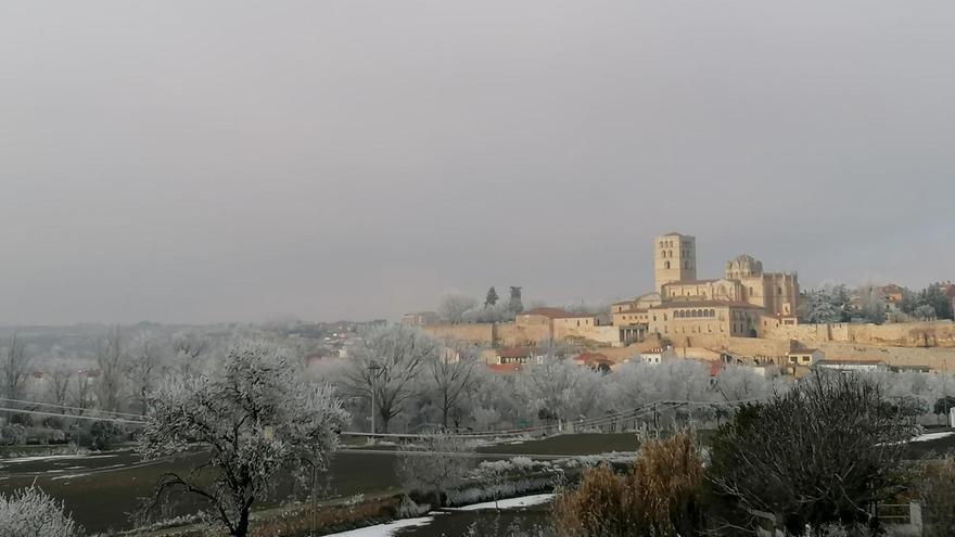 Ola de frío en Zamora I El sol puede con las nubes