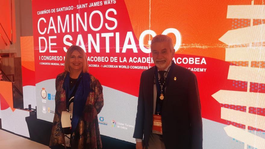 La jueza canaria Reyes Martel, en el I Congreso Mundial Jacobeo