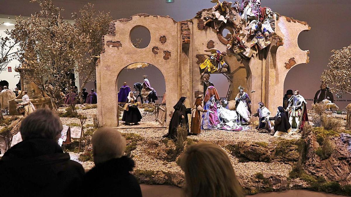 El Belén del año pasado en Casa das Artes.     // J.LORES
