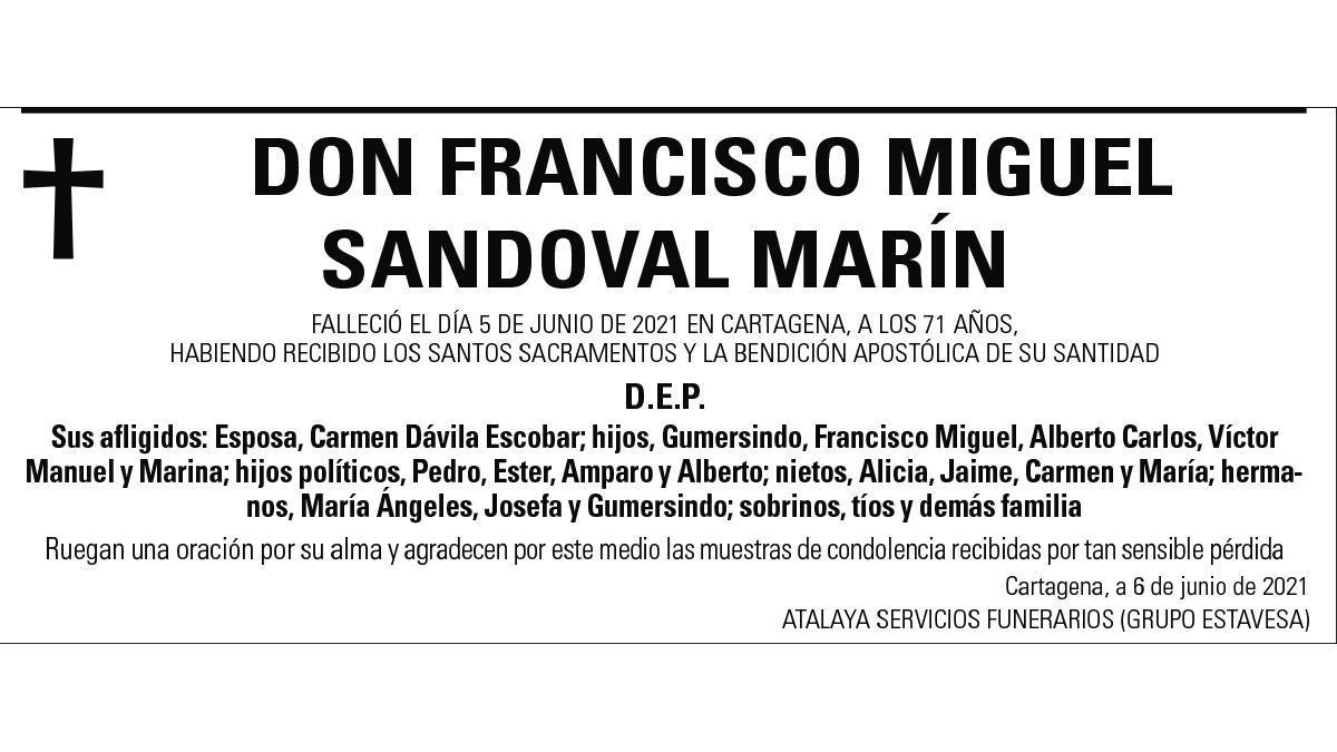D. Francisco Miguel Sandoval Marín