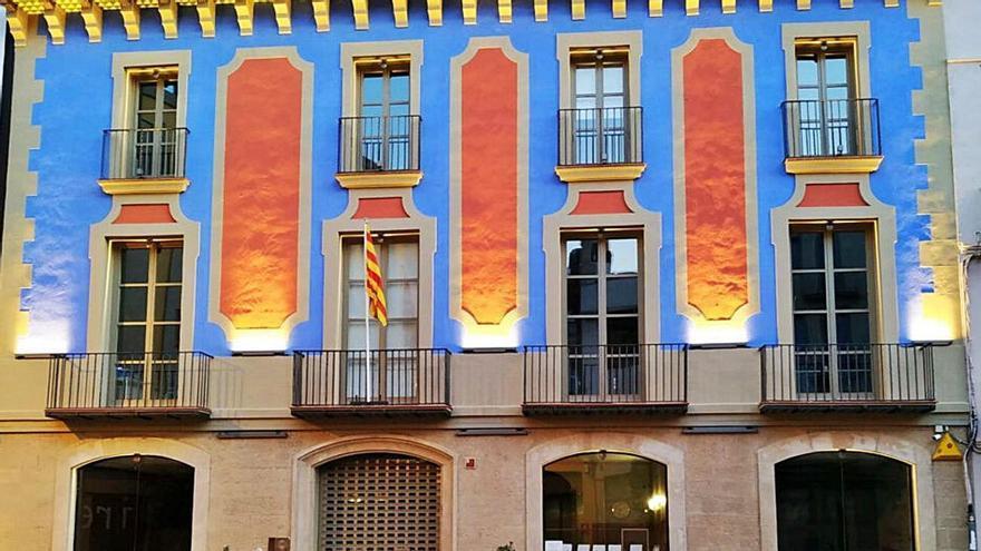 Així ha quedat la façana de la seu del Consell de l'Anoia després de completar la seva remodelació
