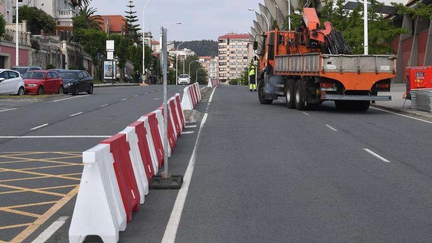 Cambios de tráfico por obras en las cubiertas del estadio de Riazor