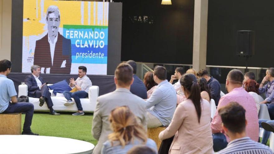 Los jóvenes de CC exigen disculpas para Fernando Clavijo