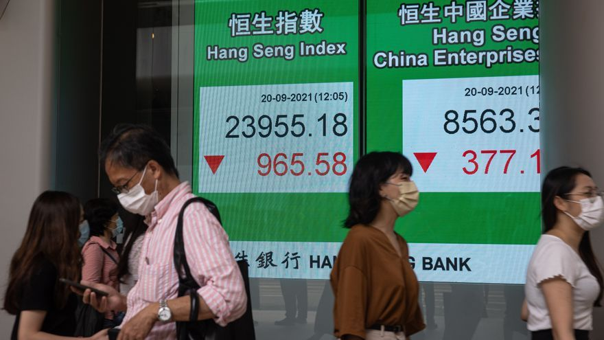 El temor por el colapso de la inmobiliaria china Evergrande arrastra a las bolsas europeas