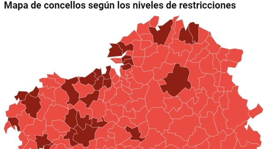 Consulta las nuevas restricciones en Galicia municipio a municipio