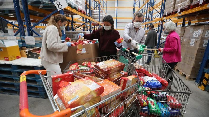 El Banco de Alimentos de Córdoba reparte en lo que va de año dos millones de kilos