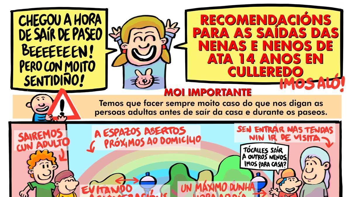 Culleredo edita un cómic con consejos para las salidas de los niños