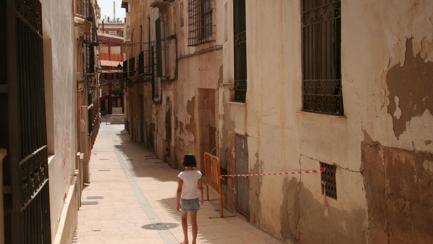 El casco antiguo de Lorca se revisa casi a diario para prevenir la caída de cascotes