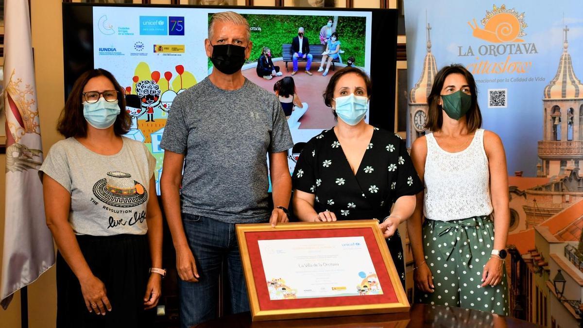 La Orotava recibe el título de Ciudad Amiga de la Infancia