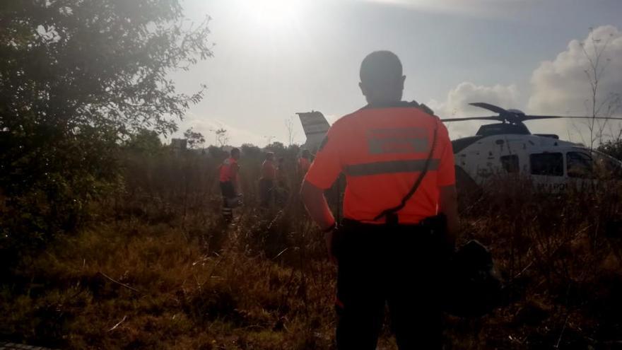 El helicóptero de la Guardia Civil localizó el cadáver del motorista desaparecido en Ibiza
