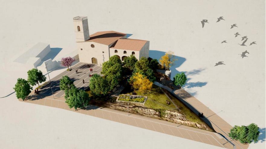 Avià començarà al setembre la remodelació de la plaça de l'església