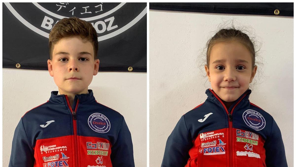 Enrique Carmona y Valeria Rebollo, jóvenes karatecas del Osaka.